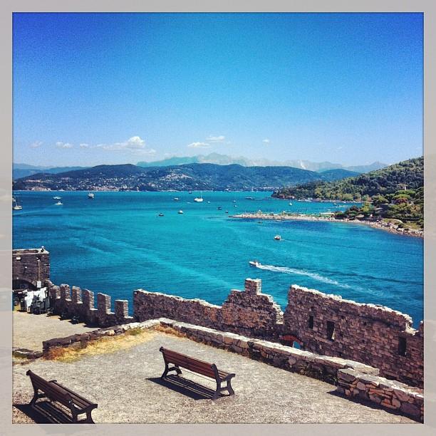 Porto Venere - vue depuis le fort, Italie