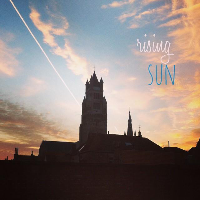 Lever de soleil - Bruges, Belgique