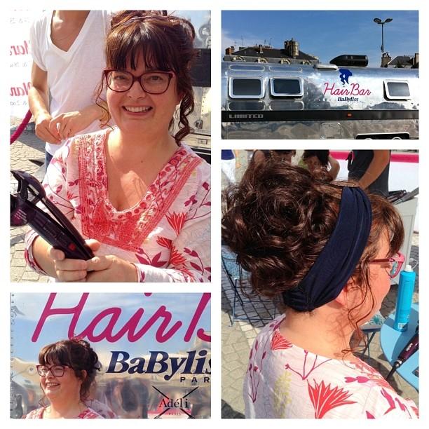 Le #curlsecret au #babylissHairBar à Bordeaux avec les headbands d'@adeliparis - Bluffant