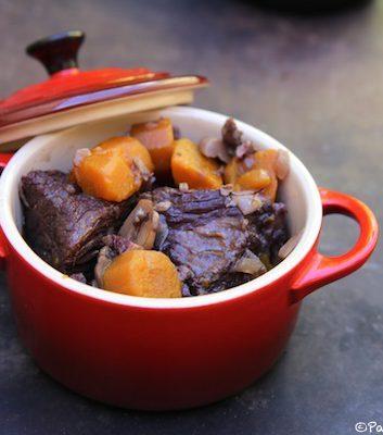 Boeuf Bourguignon aux carottes et champignons