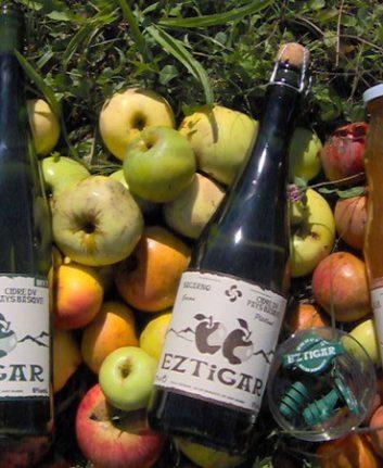 Bouteilles Eztigar - Cidre - Sagarnoa et jus de pomme