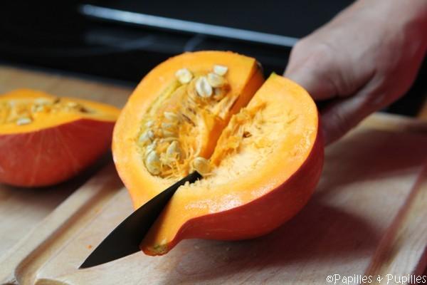 Coupez le potimarron et ôtez les graines