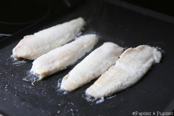 Filets de limande cuits