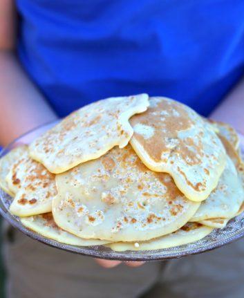 Pancakes aux flocons d'avoine.