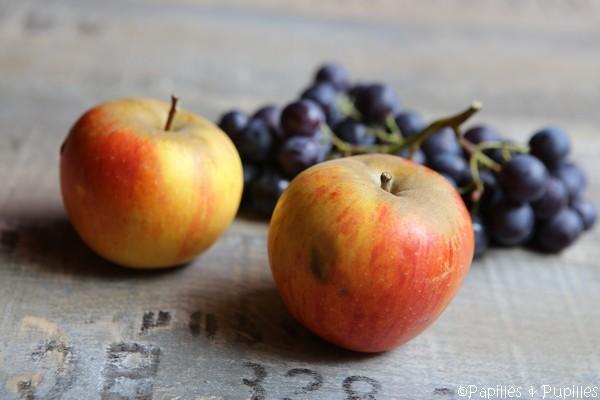 Pommes Reinette et raisin