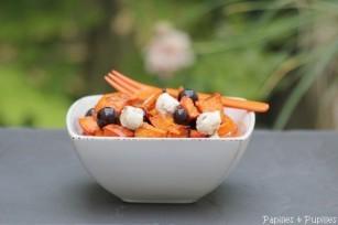 Salade de potimarron au raisin et fromage frais