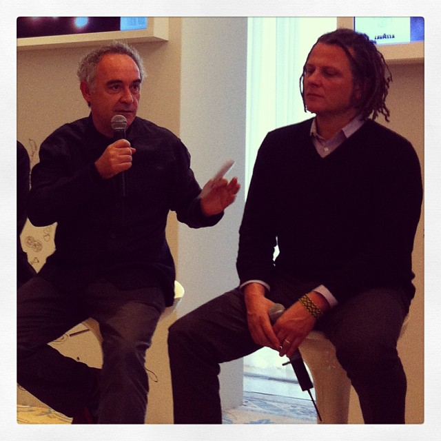 Ferran Adria with Martin Shoeller