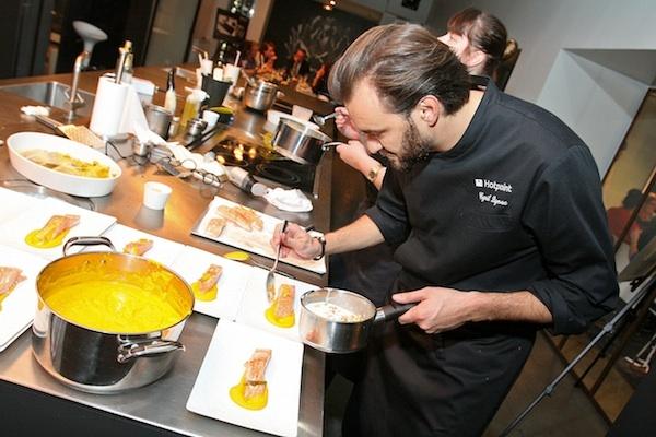 Fantastique Recette Terrine De Poisson Cyril Lignac saumon confit à l'huile d'orange, purée de carotte et crème de