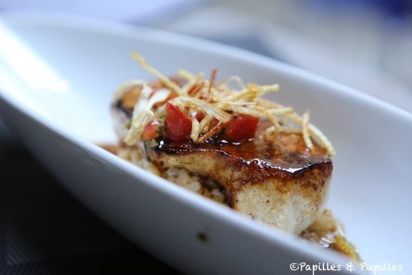 Espadon et risotto au chorizo