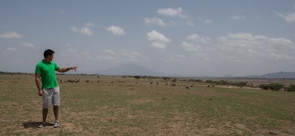 Kiran Jethwa dans les plaines est africaines