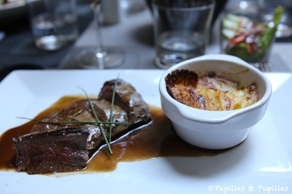 Pièce du boucher et gratin dauphinois