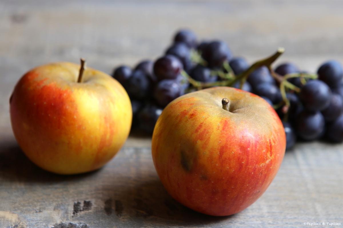 Pommes et raisins
