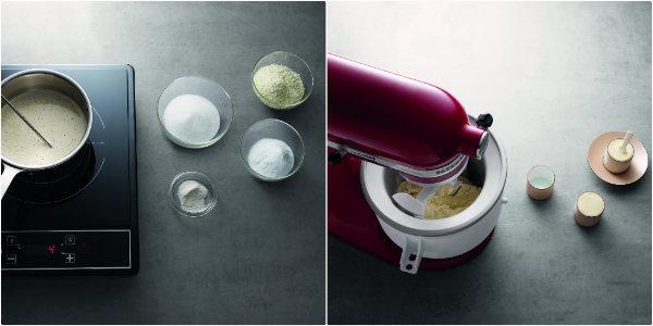Préparation de la glace à la vanille