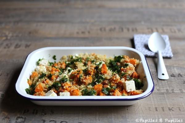 Quinoa à la butternut, feta et persil