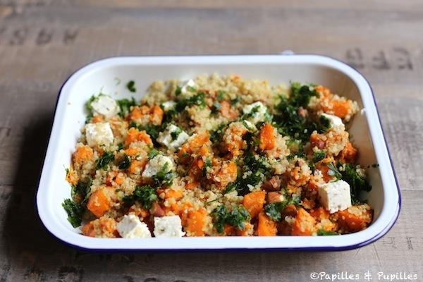 Quinoa, butternut, feta et amandes