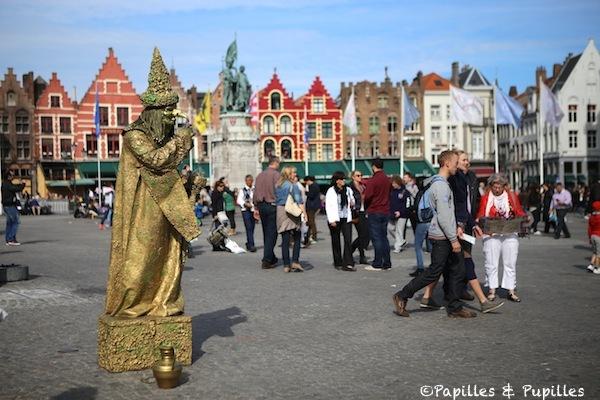 Sur la Grand Place, Bruges