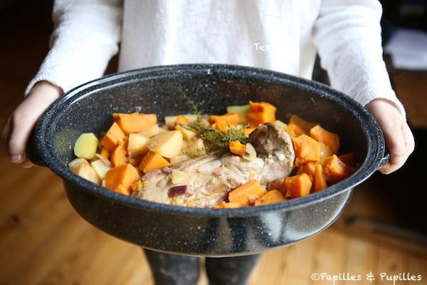 Filet mignon aux légumes d'automne en cocotte