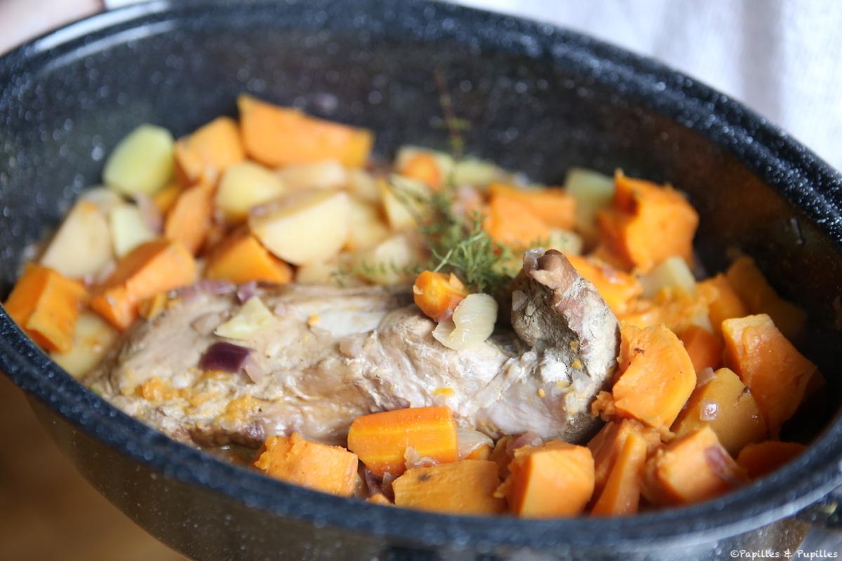 Filet mignon en cocotte aux légumes d'automne
