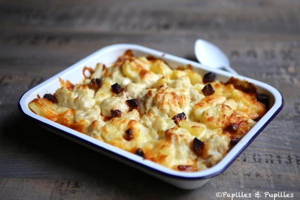 Gratin de chou fleur chorizo et pommes de terre