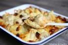 Gratin de chou fleur, pommes de terre et chorizo