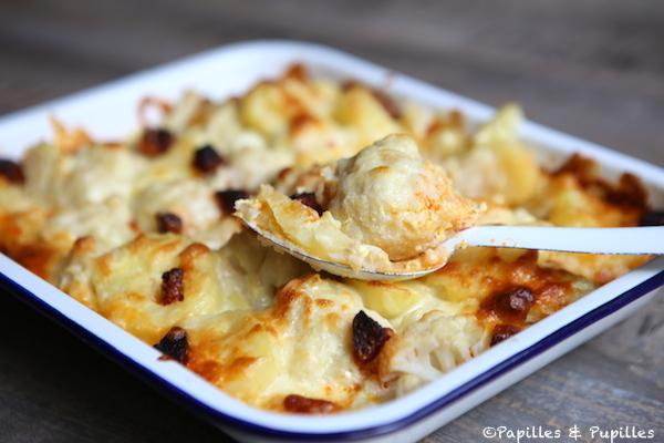 Gratin de chou fleur pommes de terre et chorizo - Choux de bruxelles recette gratin ...