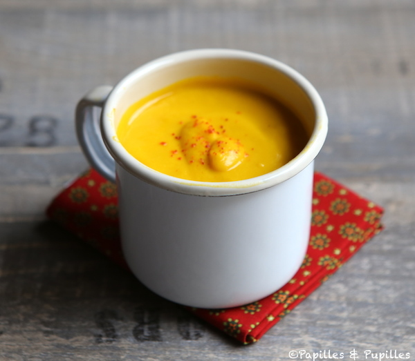 Velouté de carottes et patates douces au lait de coco