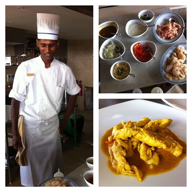 Cours de cuisine #zilwaattitude #ilemaurice - curry de poulet et crevettes avec @monblogdemaman @lejournaldemaman @sandradtse @nicolas2dianous