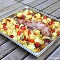 Filet mignon au four lard fumé et pommes de terre
