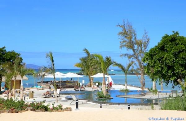 ILe Maurice, la plage, la piscine et le lagon