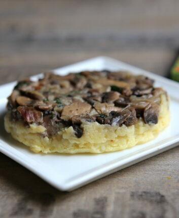 Tatin de pommes de terre et champignons