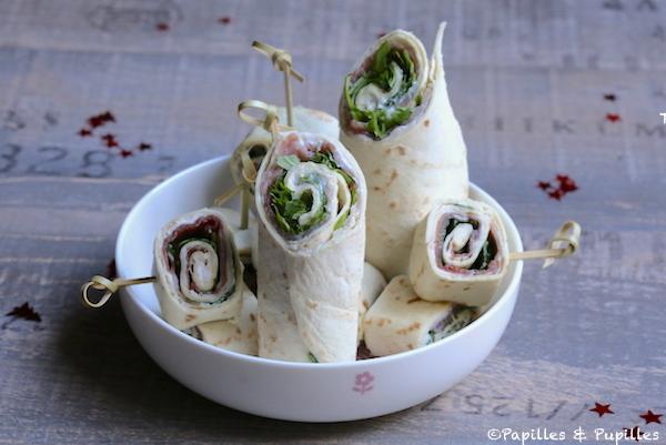 Wraps Jambon de Parme ricotta roquette