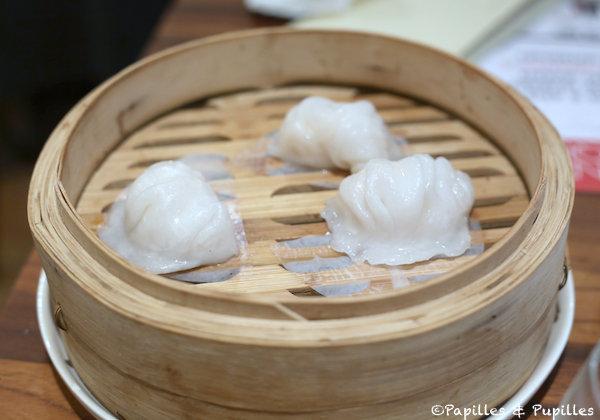 Ar gau - Ravioles transparentes aux crevettes