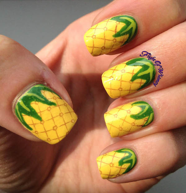 Ongles ananas ©Flight of whimsy