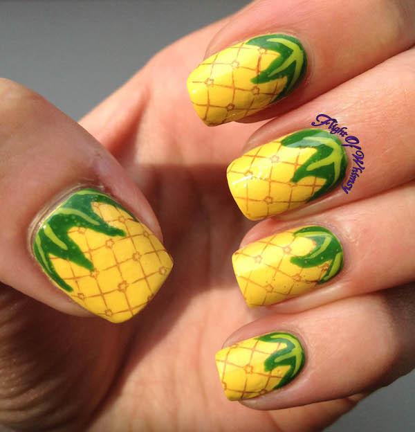 Ongles ananas ©Flight of whimsy