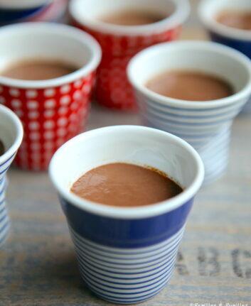 Petites crèmes au chocolat