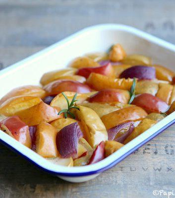 Pommes au four salées