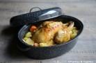 Poulet aux patates douces et pommes de terre