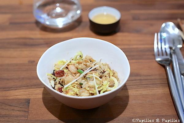 Riz sauté coques crevettes saucisse lap cheong