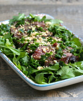 Salade thaï de boeuf mariné – Larmes du tigre