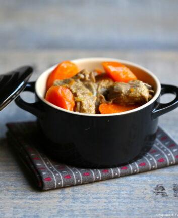 Sauté de veau aux carottes cumin et orange