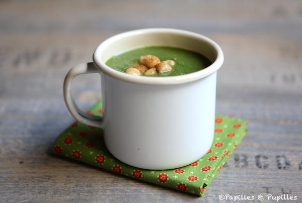Soupe pois chiche épinards cumin