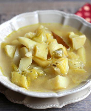 Soupe rustique poireaux pommes de terre