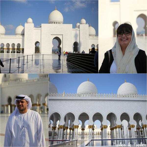 A la grande mosquée avec notre guide