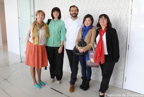 Ludmila, Ekaterina, Cyril, Bindi et moi