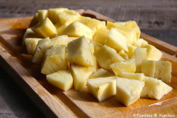 Ananas coupé en dés