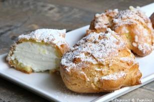 Chouquettes à la chantilly vanillée