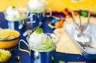 Délice sucré à l'avocat et glace au yaourt