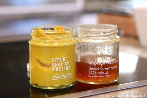 Moutarde anglaise et miel