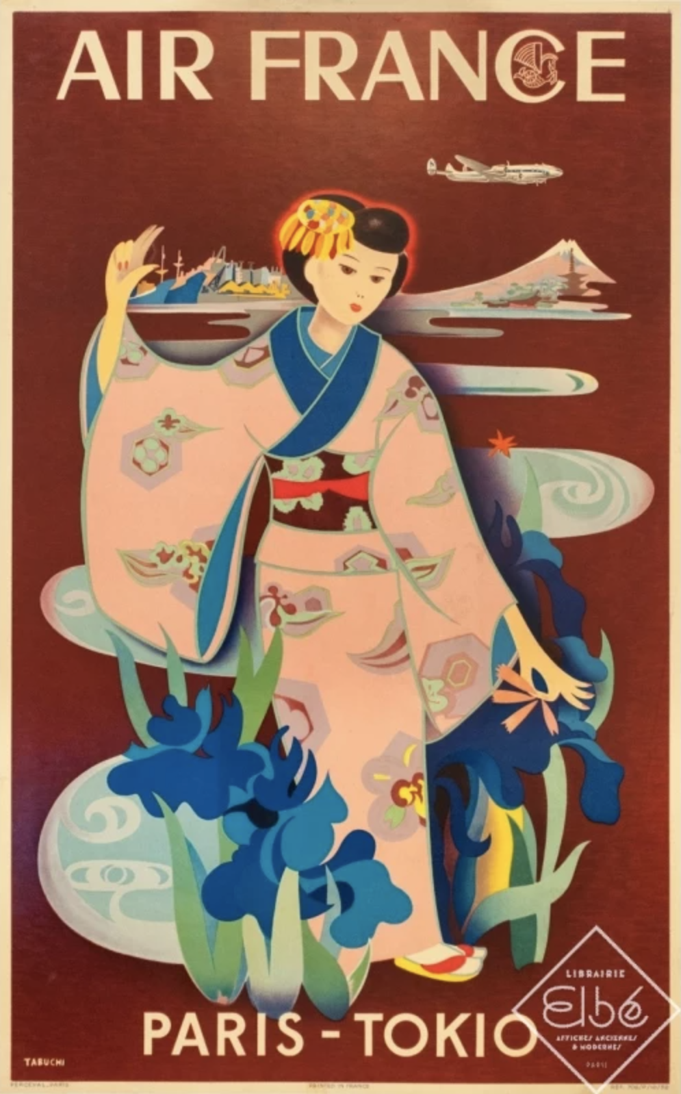 Poster Air France - Paris Tokyo