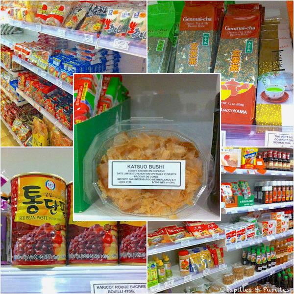 Produits d'épicerie japonais et coréens